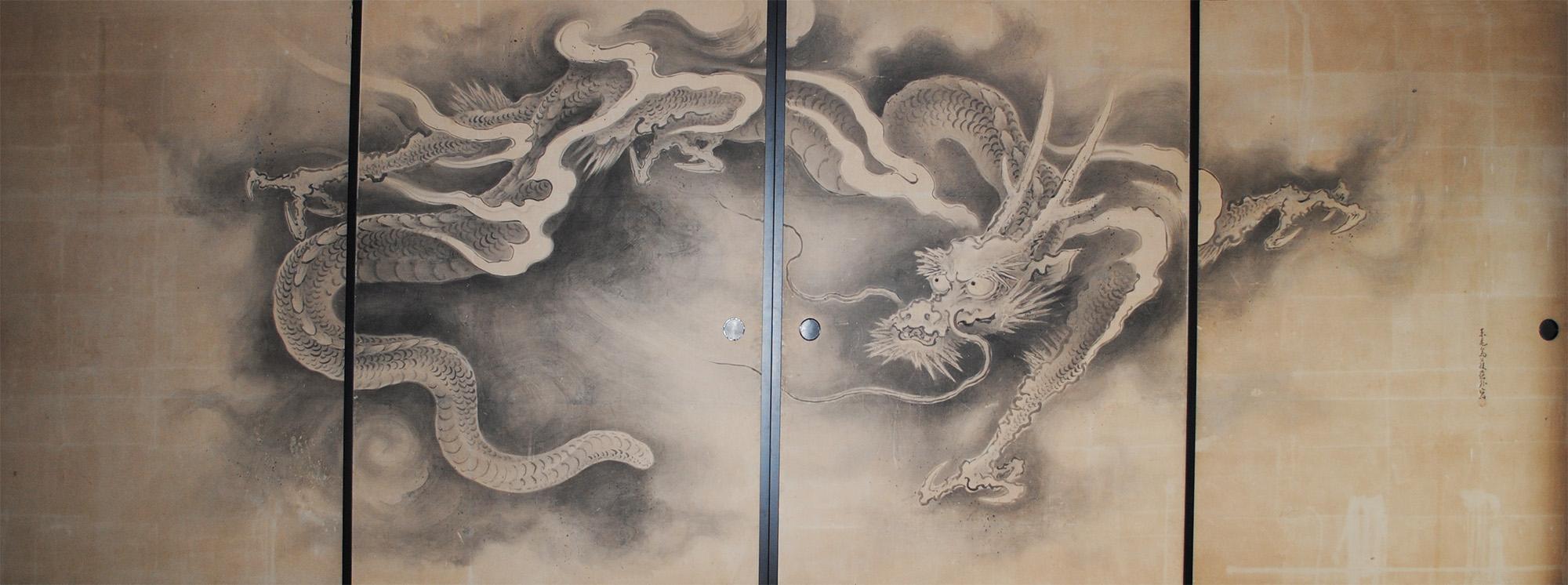 雲龍図襖絵2