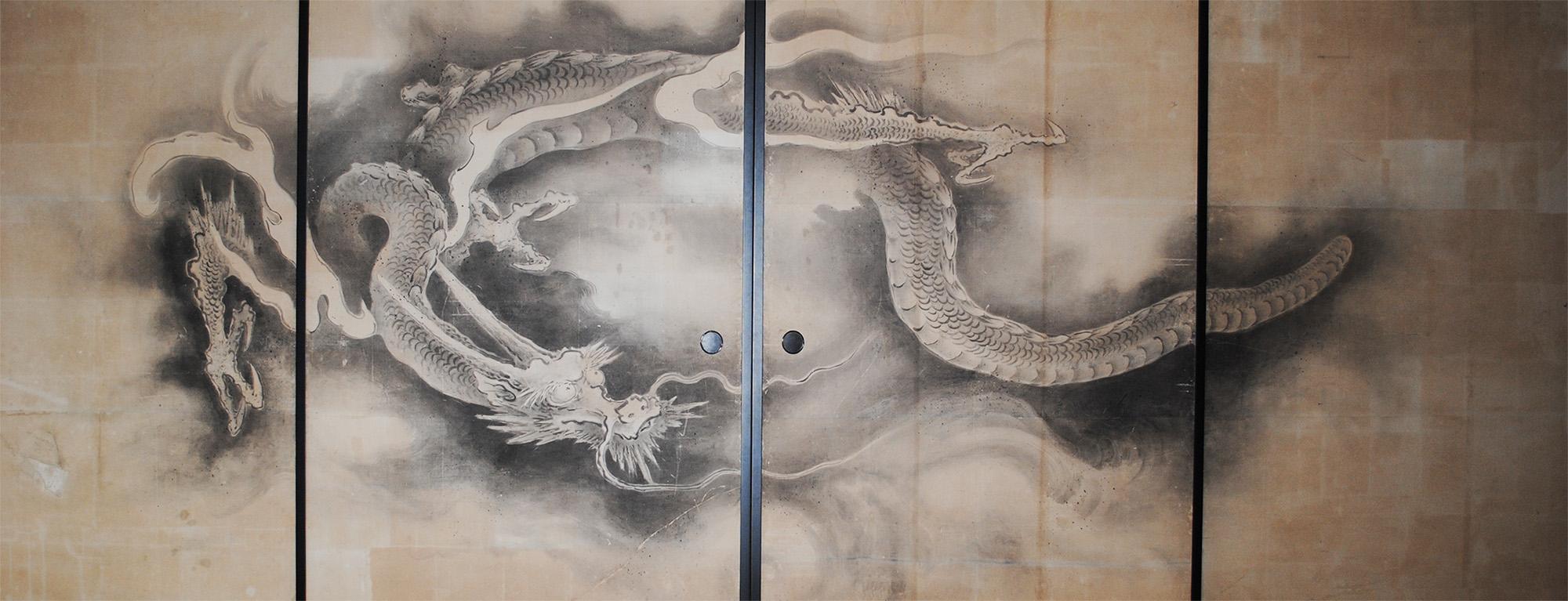 雲龍図襖絵1