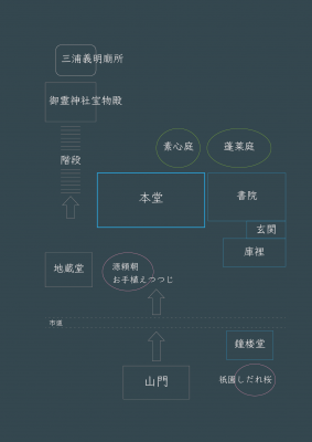 満昌寺 境内案内図
